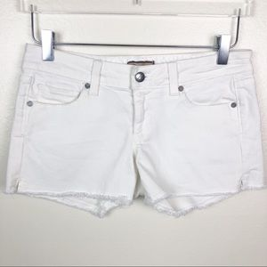 PAIGE l White Cutoff Shorts